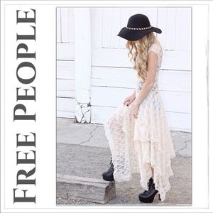 NWT Free People French Courtship Lace Slip Dress M